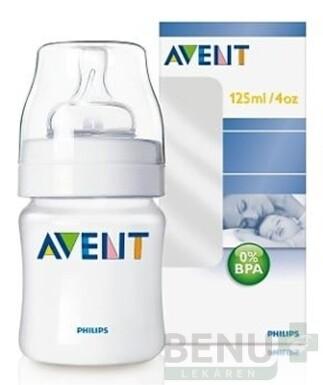 AVENT FĽAŠA Klasik PP 0%BPA 125 ml 1ks
