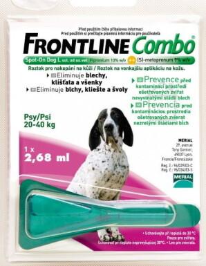 FRONTLINE Combo Spot-On pre psy L sol 1x2,68ml