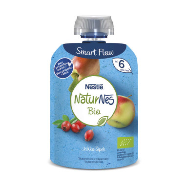 NESTLÉ Naturnes BIO jablko, šípky 90 g