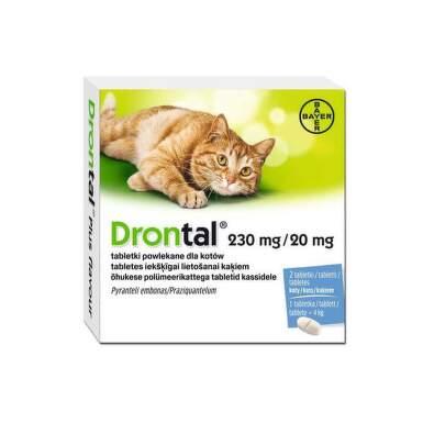 DRONTAL pre mačky 2 tablety