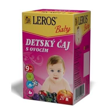 LEROS BABY DETSKÝ ČAJ S OVOCÍM 20x2g