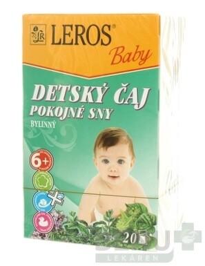 LEROS BABY DETSKÝ ČAJ POKOJNÉ SNY 20x1,5g