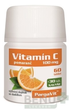 PargaVit VITAMÍN C Pomaranč tbl 90