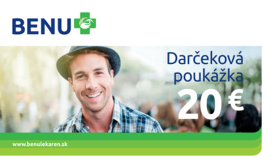 BENU Darčeková poukážka 20€ 1ks