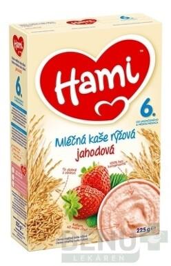 Hami mliečna kaša ryžová jahodová 225g