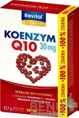 Revital KOENZÝM Q10 30 mg + VITAMÍN E + SELÉN cps 30+30zdarma