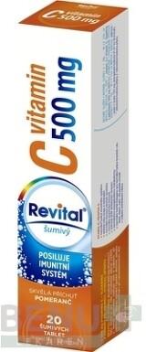 Revital vitamín C 500 mg šumivý tbl eff 20