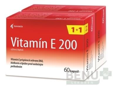 Noventis Vitamín E 200 120 cps cps 60+60 2