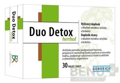 GENERICA Duo Detox herbal tbl 1x30
