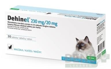 DEHINEL 230 mg/20 mg pre mačky tbl flm 1x30