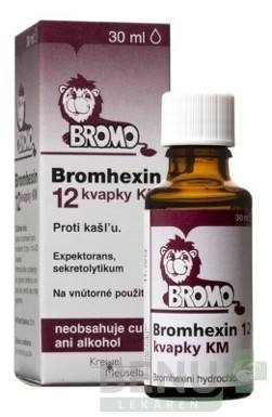 BROMHEXIN 12 KVAPKY KM gtt por 30ml