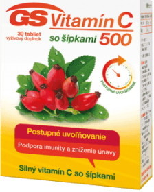 GS Vitamín C 500 so šípkami tbl 30