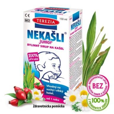 TEREZIA Nekašli junior bylinný sirup na kašeľ 150 ml