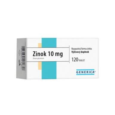 GENERICA Zinok 10 mg 120 tabliet