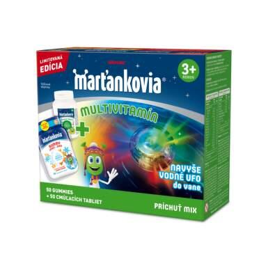 WALMARK Marťankovia multivitamín set 50 tabliet Gummy jeseň - zima + 50 cmúľacích tabliet s Imunactivom + darček