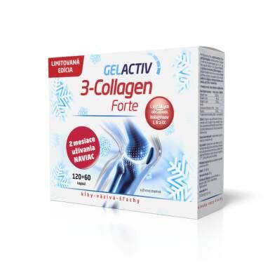 GELACTIV 3-Collagen forte darčeková edicia 120 + 60 kapsúl ZADARMO