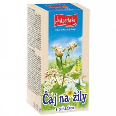 APOTHEKE Bylinný čaj na žily s pohánkou 20 x 1,5 g