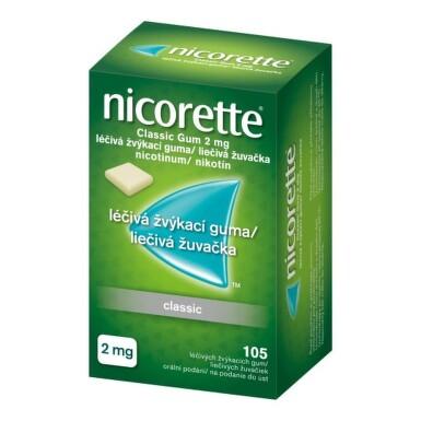 NICORETTE Classic gum 2 mg 105 žuvačiek