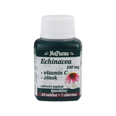 MedPharma ECHINACEA 100MG, VITAMÍN C, ZINOK tbl 30+7 zdarma