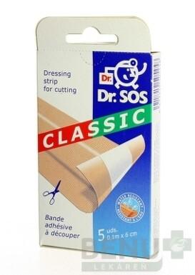 Dr. SOS Classic náplasť pásy vodeodolné 1x5 ks 5ks