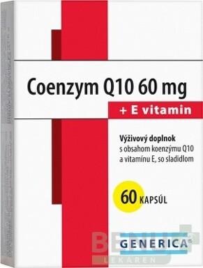GENERICA Coenzym Q10 60 mg + E vitamin tbl 60x60mg