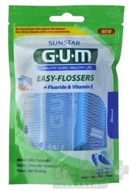GUM Easy Flossers 1x30 ks + cestovné púzdro 30ks