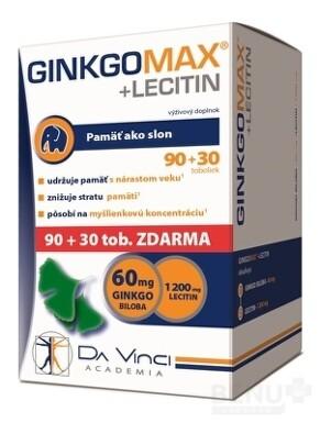 GINKGO MAX + LECITIN - DA VINCI cps 90+30 zdarma