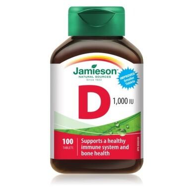 JAMIESON VITAMÍN D3 1000 IU tbl 100