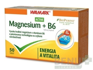 WALMARK Magnesium Active + B6 1x50 ks tbl 50