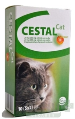 CESTAL CAT flavour 20 mg/230 mg tbl 10