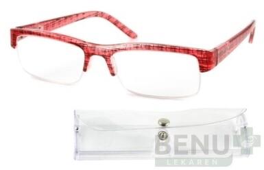 American Way okuliare na čítanie FLEX červeno-čierne + púzdro 1set