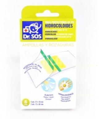 Dr. SOS Hydrocoloidne náplasti prúžky mix vodeodolné 6ks