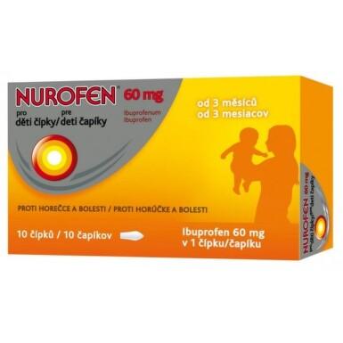 NUROFEN Čapíky pre deti 60 mg 10 kusov