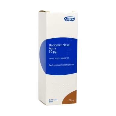 BECLOMET Nasal aqua 50 µg nosový sprej 9 ml