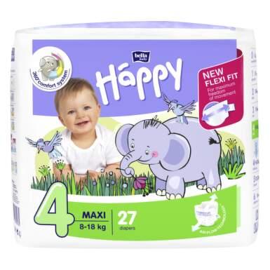 HAPPY Detské plienky 4 maxi 27 kusov