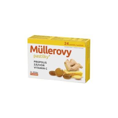 DR. MÜLLER Pastilky propolis, zázvor, vitamín C 24 kusov
