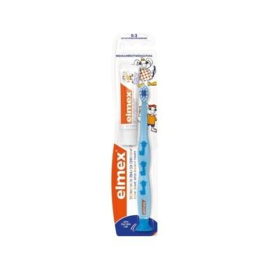 ELMEX Detská zubná kefka výučbová 1 kus + 9,4 ml pasta