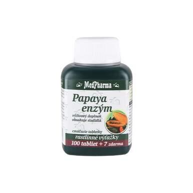 MEDPHARMA Papaya enzým 100 + 7  tabliet ZADARMO