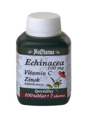 MedPharma ECHINACEA 100MG, VITAMÍN C, ZINOK tbl 100+7 zdarma
