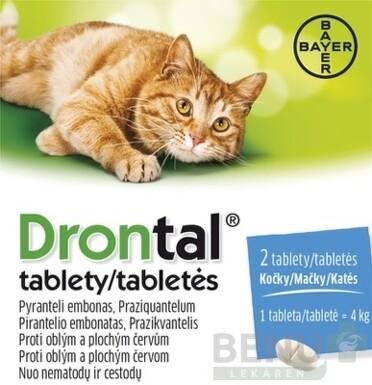 Drontal tablety (pre mačky) tbl 2