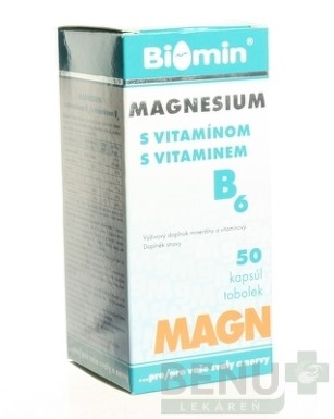 BIOMIN MAGNESIUM S VITAMÍNOM B6 cps 50