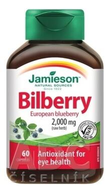JAMIESON Čučoriedky 2000 mg 60 cps. cps 60x2500mg