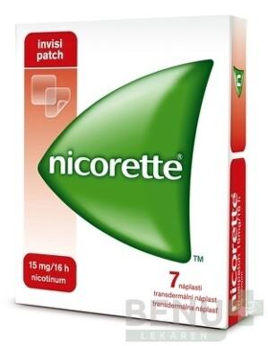 Nicorette invisipatch 15 mg/16 h transder. náplasť emp tdm 7
