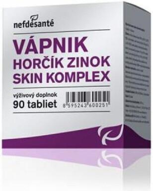 nefdesanté VÁPNIK HORČÍK ZINOK SKIN KOMPLEX tbl 90