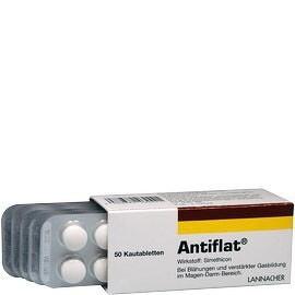 Antiflat žuvacie tablety tbl mnd 50x42mg
