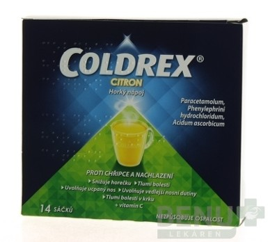 COLDREX Horúci nápoj Citrón 14ks