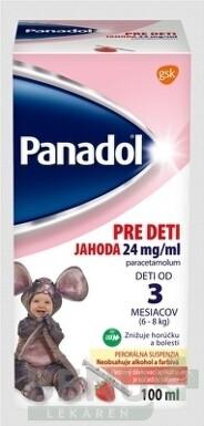 PANADOL PRE DETI JAHODA 24 mg/ml 1x100 ml