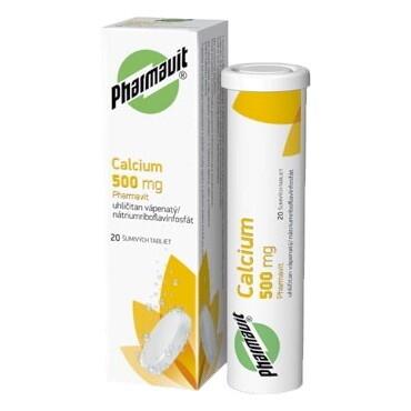 CALCIUM 500 mg PHARMAVIT tbl eff 20x500mg