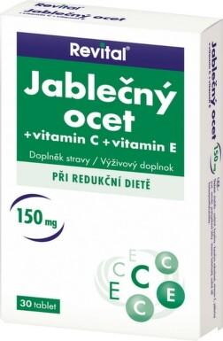 REVITAL JABLČNÝ OCOT + VITAMÍN C + VITAMÍN E tbl 30