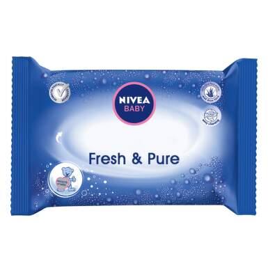 NIVEA Baby Čistiace obrúsky fresh & pure 63 kusov